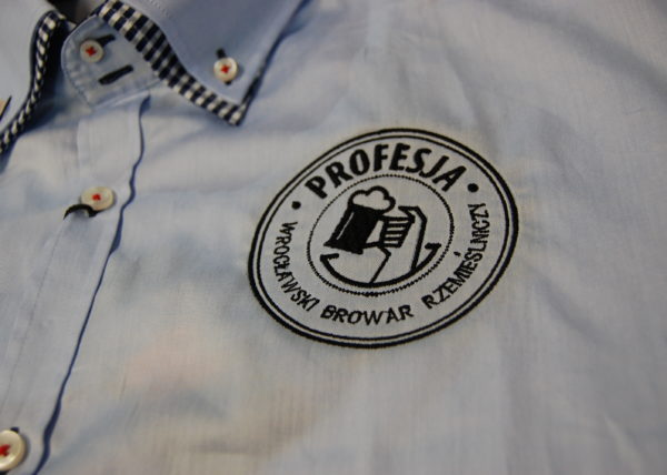 elegancka koszula z haftem