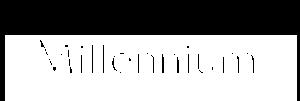 Białe logo Millennium Bank