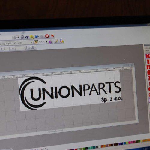 Przygotowywanie haftu logo Unionparts