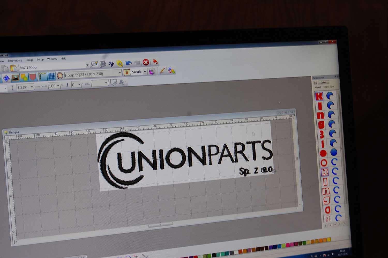 Przygotowywanie-haftu-logo-Unionparts