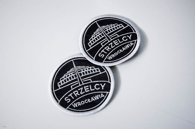 Haftowane naszywki okrągłe Strzelcy Wrocławia