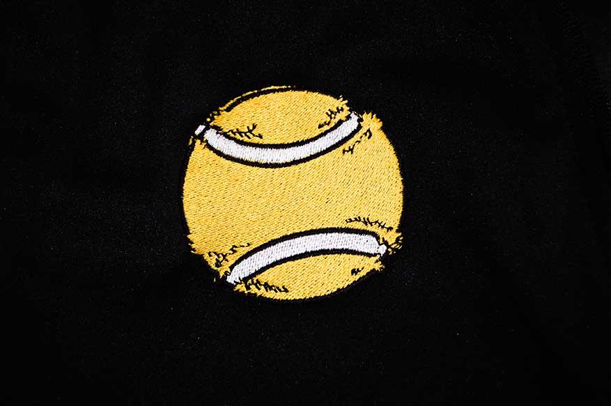Naszywka haftowana piłeczka do tenisa
