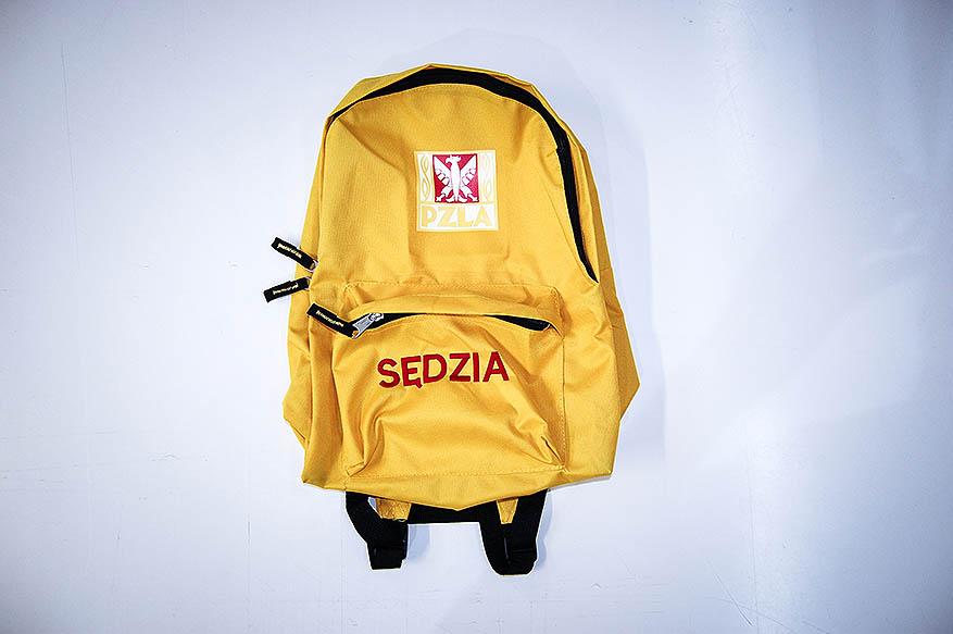 Plecak dla sędziego z wyhaftowanym napisem