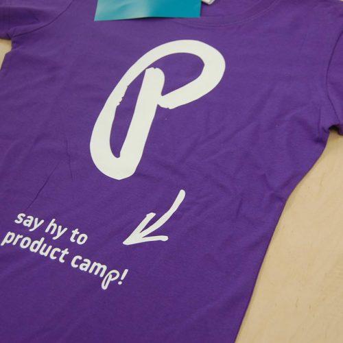 Sitodruk na fioletowej koszulce damskiej