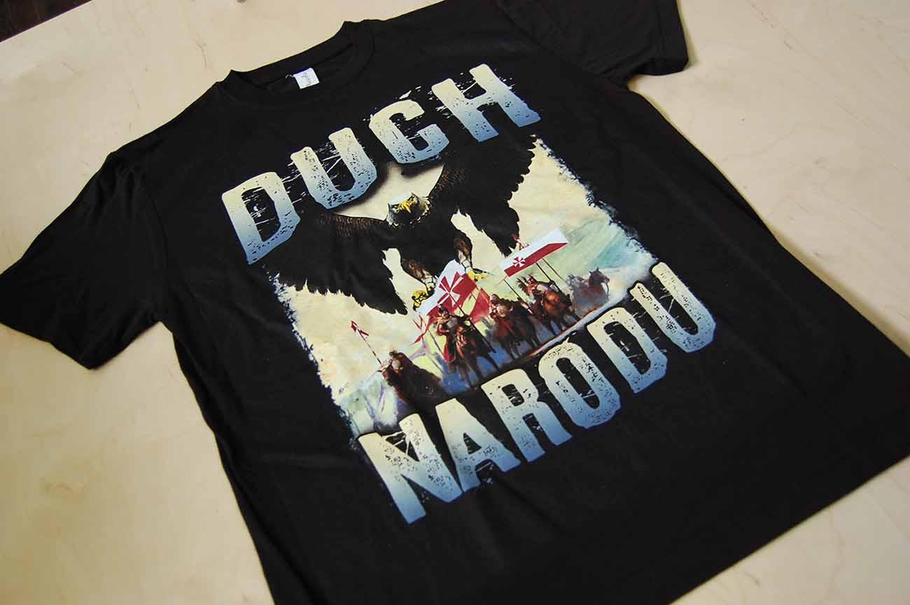 Nadruk DTG na koszulce t-shirt