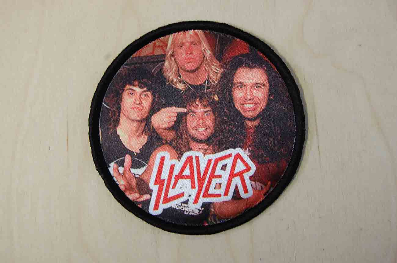 Naszywka sublimacyjna w kształcie okręgu, nadruk Slayer